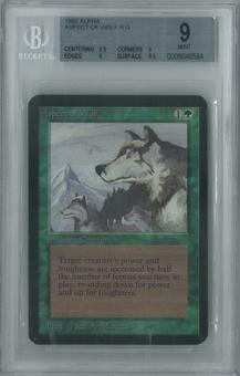 Magic the Gathering Alpha Single Aspect of Wolf BGS 9 (9.5, 9, 9, 9.5)