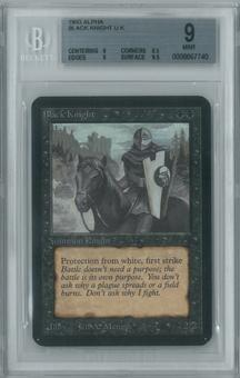 Magic the Gathering Alpha Single Black Knight BGS 9 (8.5, 9, 9, 9.5)