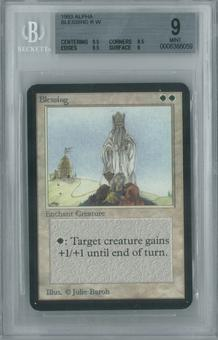 Magic the Gathering Alpha Single Blessing BGS 9 (8.5, 9.5, 9.5, 9)