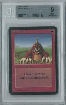 Magic the Gathering Alpha Single Burrowing BGS 9 (9, 9, 9.5, 9.5)