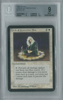 Magic the Gathering Alpha Single Circle of Protection: Blue BGS 9 (9, 9, 9, 8.5)