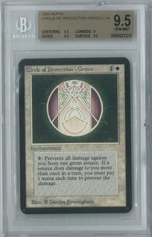 Magic the Gathering Alpha Single Circle of Protection: Green BGS 9.5 (9, 9.5, 9.5, 9.5)
