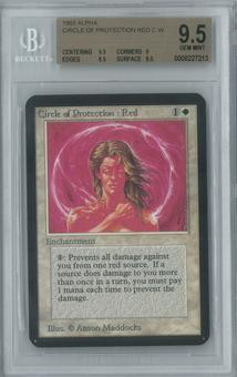 Magic the Gathering Alpha Single Circle of Protection: Red BGS 9.5 (9, 9.5, 9.5, 9.5)