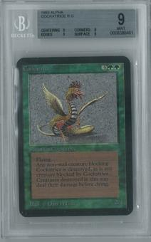 Magic the Gathering Alpha Single Cockatrice BGS 9 (9, 9, 9, 9)