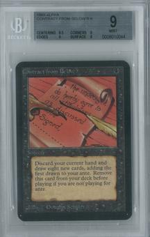 Magic the Gathering Alpha Single Contract from Below BGS 9 (9, 8.5, 9, 9)