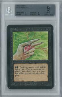 Magic the Gathering Alpha Single Deathgrip BGS 9 (9, 9, 9.5, 9.5)