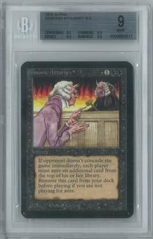 Magic the Gathering Alpha Single Demonic Attorney BGS 9 (9.5, 8.5, 9.5, 9.5)