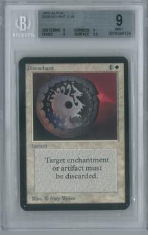 Magic the Gathering Alpha Single Disenchant BGS 9 (9, 9, 9, 9.5)