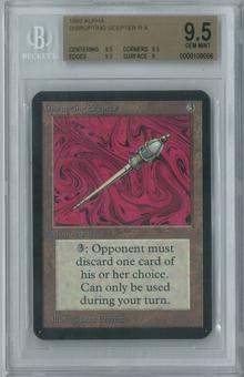 Magic the Gathering Alpha Single Disrupting Scepter BGS 9.5 (9.5, 9.5, 9.5, 9)