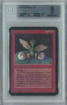Magic the Gathering Alpha Single Dragon Whelp BGS 9 (8.5, 9, 9, 9)
