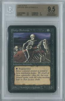 Magic the Gathering Alpha Single Drudge Skeletons BGS 9.5 (9, 9.5, 9.5, 9.5)