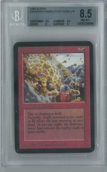 Magic the Gathering Alpha Single Dwarven Demolition Team BGS 8.5 (8.5, 9.5, 9, 8)