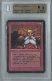 Magic the Gathering Alpha Single Dwarven Warriors BGS 9.5 (9, 9.5, 9.5, 9.5)
