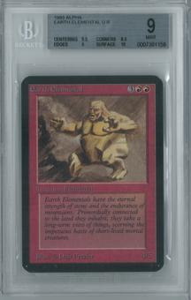 Magic the Gathering Alpha Single Earth Elemental BGS 9 (8.5, 9.5, 9, 10)