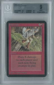 Magic the Gathering Alpha Single Earthquake BGS 9 (8.5, 9.5, 9, 9.5)