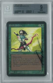 Magic the Gathering Alpha Single Elvish Archers BGS 9 (9, 8.5, 9.5, 9)