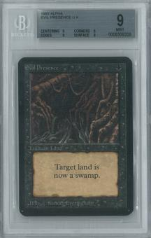 Magic the Gathering Alpha Single Evil Presence BGS 9 (9, 9, 9, 9)