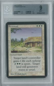 Magic the Gathering Alpha Single Farmstead BGS 9 (9, 9, 9, 9.5)