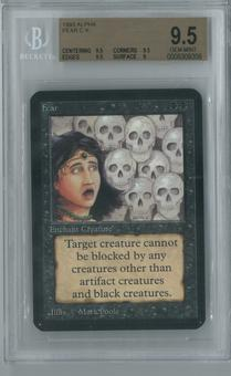 Magic the Gathering Alpha Single Fear BGS 9.5 (9.5, 9.5, 9.5, 9)