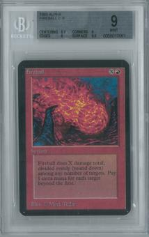 Magic the Gathering Alpha Single Fireball BGS 9 (9, 8.5, 9, 9.5)