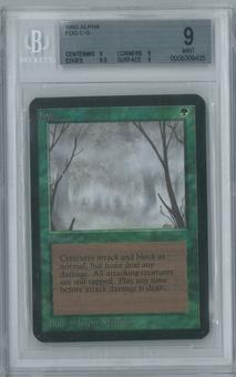 Magic the Gathering Alpha Single Fog BGS 9 (9, 9, 9.5, 9)