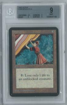 Magic the Gathering Alpha Single Forcefield BGS 9 (9, 8.5, 9, 9)