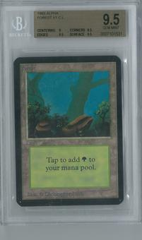 Magic the Gathering Alpha Single Forest v1 BGS 9.5 (9.5, 9, 9.5, 9.5)