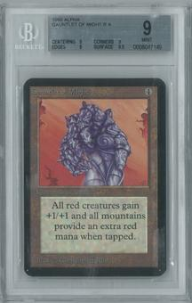Magic the Gathering Alpha Single Gauntlet of Might BGS 9 (9, 9, 9, 9.5)