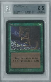 Magic the Gathering Alpha Single Giant Growth BGS 8.5 (8.5, 8, 9, 8.5)