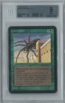 Magic the Gathering Alpha Single Giant Spider BGS 9 (8.5, 9.5, 9.5, 9.5)