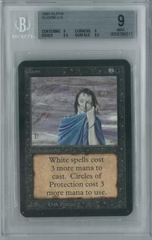 Magic the Gathering Alpha Single Gloom BGS 9 (9, 9, 9.5, 9.5)