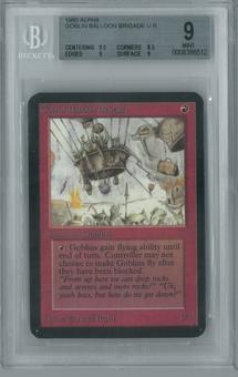 Magic the Gathering Alpha Single Goblin Balloon Brigade BGS 9 (8.5, 9.5, 9, 9)