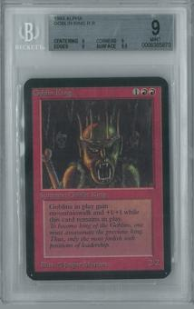 Magic the Gathering Alpha Single Goblin King BGS 9 (9, 9, 9, 9.5)