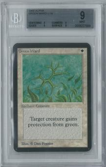 Magic the Gathering Alpha Single Green Ward BGS 9 (9, 9, 9, 9)