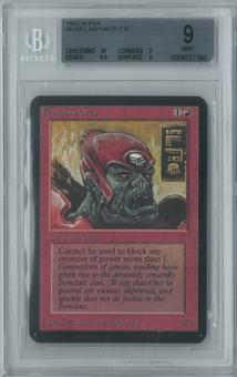 Magic the Gathering Alpha Single Ironclaw Orcs BGS 9 (9, 10, 9.5, 9)