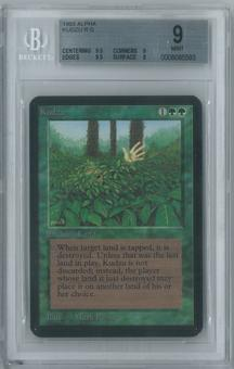 Magic the Gathering Alpha Single Kudzu BGS 9 (9.5, 9, 9.5, 9)