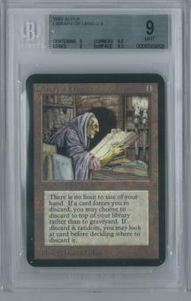 Magic the Gathering Alpha Single Library of Leng BGS 9 (9.5, 9, 9, 9.5)
