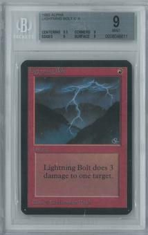 Magic the Gathering Alpha Single Lightning Bolt BGS 9 (9, 9.5, 9, 9)