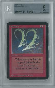 Magic the Gathering Alpha Single Manabarbs BGS 9 (9, 9.5, 9, 9)