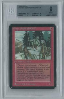 Magic the Gathering Alpha Single Mons's Goblin Raiders BGS 9 (9, 8.5, 9, 9)