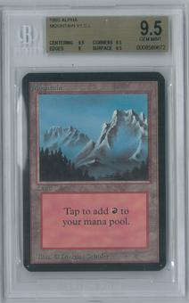 Magic the Gathering Alpha Single Mountain v1 BGS 9.5 (9.5, 9.5, 9, 9.5)