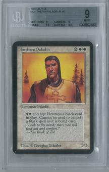 Magic the Gathering Alpha Single Northern Paladin BGS 9 (9, 9, 9.5, 8.5)