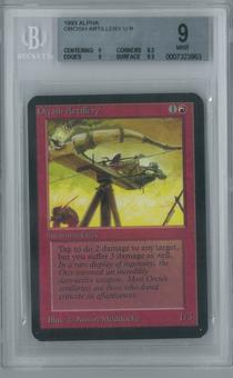 Magic the Gathering Alpha Single Orcish Artillery BGS 9 (8.5, 9, 9, 9.5)