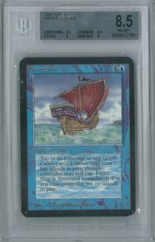 Magic the Gathering Alpha Single Pirate Ship BGS 8.5 (8.5, 8.5, 9, 8)