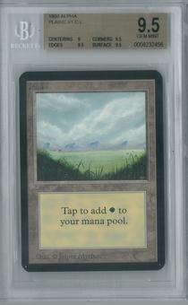 Magic the Gathering Alpha Single Plains v1 BGS 9.5 (9.5, 9, 9.5, 9.5)