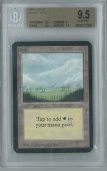 Magic the Gathering Alpha Single Plains v2 BGS 9.5 (9, 9.5, 9.5, 9.5)