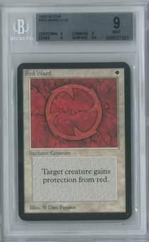 Magic the Gathering Alpha Single Red Ward BGS 9 (9, 9, 9, 9.5)