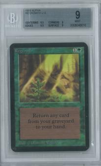 Magic the Gathering Alpha Single Regrowth BGS 9 (9, 9.5, 9.5, 9)