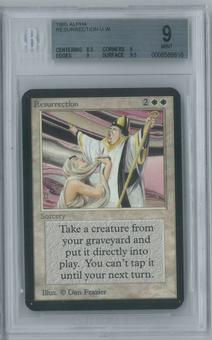 Magic the Gathering Alpha Single Resurrection BGS 9 (9, 8.5, 9, 9.5)