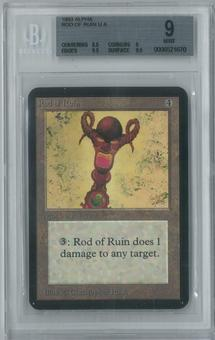Magic the Gathering Alpha Single Rod of Ruin BGS 9 (9, 8.5, 9.5, 9.5)